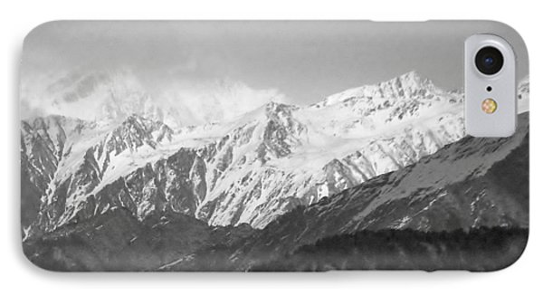 High Himalayas - Black And White Phone Case by Kim Bemis