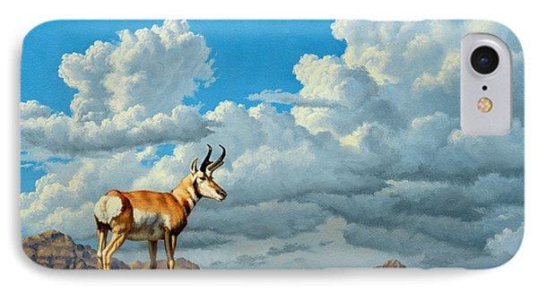 High Meadow - Pronghorn Phone Case by Paul Krapf