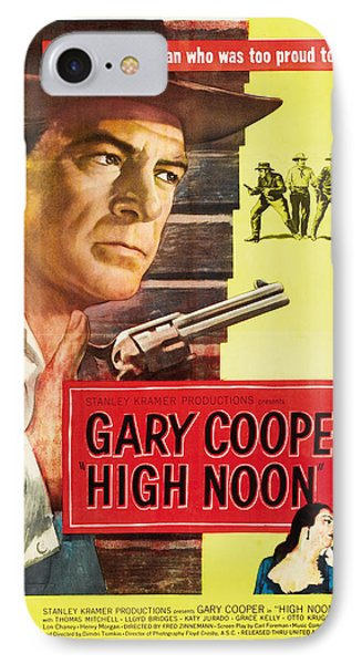 High Noon - 1952 IPhone 7 Case by Georgia Fowler