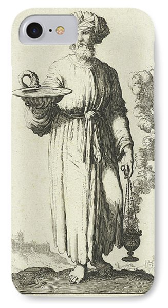 High Priest In White Vestments Belonging To The Atonement IPhone Case by Jan Luyken And Willem Goeree