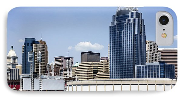 High Resolution Photo Of Cincinnati Skyline Phone Case by Paul Velgos