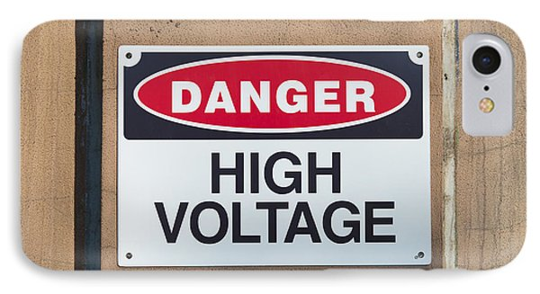 High Voltage Sign Phone Case by Hans Engbers