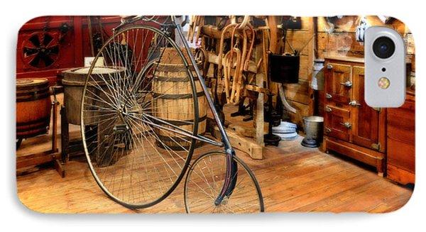 High Wheel 'penny-farthing' Bike Phone Case by Christine Till