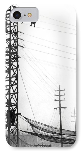 High Wire Suicide Rescue IPhone Case by Underwood Archives