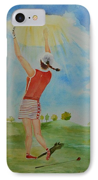 Highest Calling Is God Next Golf IPhone Case by Geeta Biswas