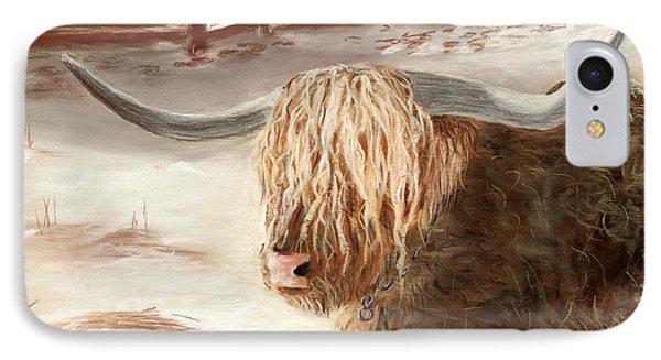 Highland Bull IPhone Case by Anastasiya Malakhova