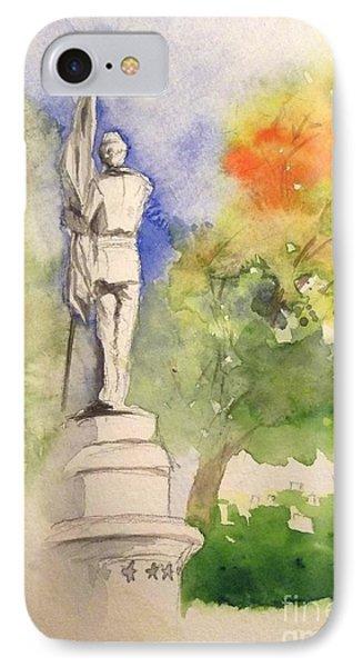 Highland Cemetery-plein Air-ypsilanti Michigan 1 IPhone Case by Yoshiko Mishina