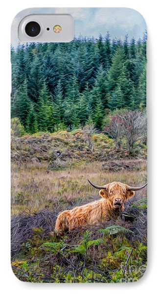 Highland Cow Phone Case by Adrian Evans