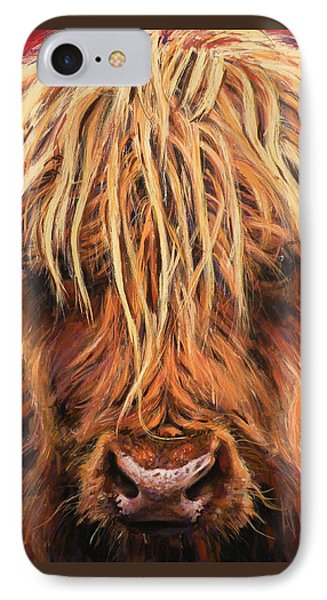 Highland Cow IPhone Case by Leigh Banks