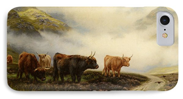 Highland Cows In A Pasture IPhone Case by Wright Barker