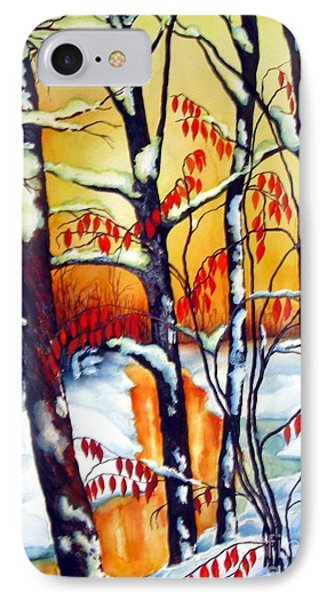 IPhone Case featuring the painting Highland Creek Sunset 2  by Inese Poga
