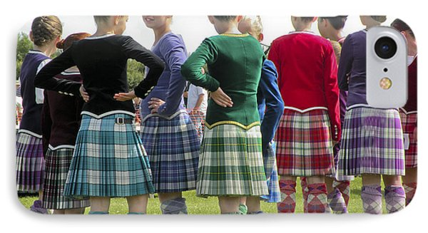 IPhone Case featuring the photograph Highland Dancers Scotland by Sally Ross