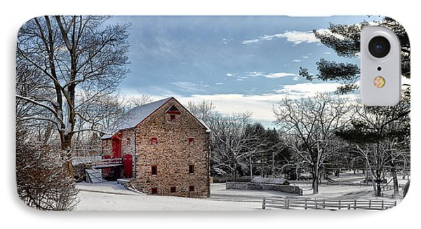 Highland Farms In The Snow Phone Case by Bill Cannon