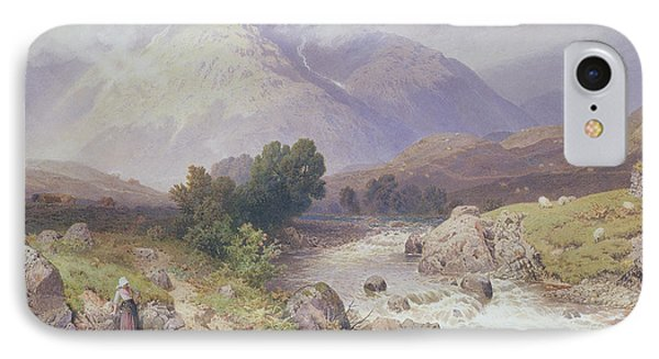 Highland Scene Near Dalmally Argyll IPhone Case by Myles Birket Foster