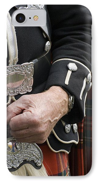 IPhone Case featuring the photograph Highland Scottish Soldier by Sally Ross