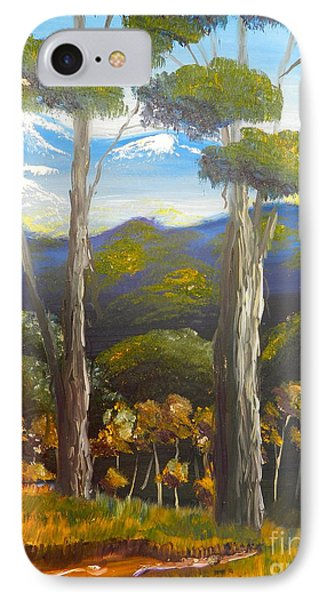Highlands Gum Trees Phone Case by Pamela  Meredith