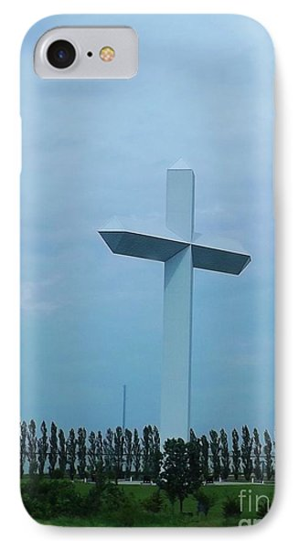 IPhone Case featuring the photograph Highway Cross by Brigitte Emme