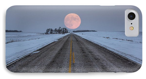 Highway To The Moon IPhone Case by Aaron J Groen