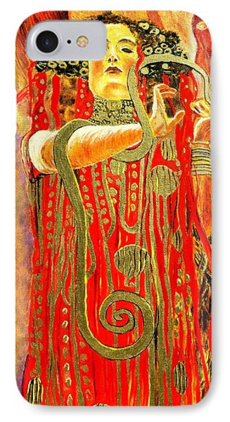 Higieja-according To Gustaw Klimt IPhone Case by Henryk Gorecki