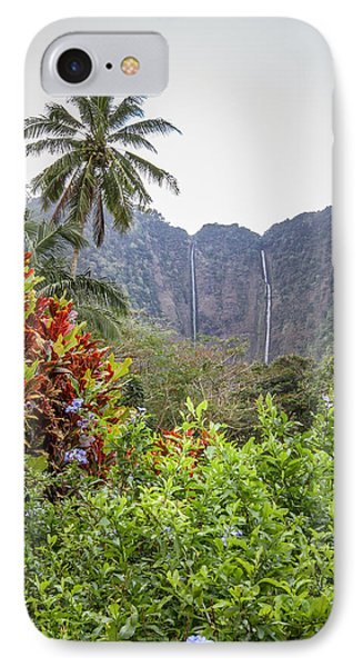 Hiilawe And Hakalaoa Falls IPhone Case