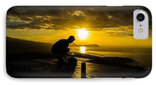IPhone Case featuring the photograph Hiker @ Diamondhead by Angela DeFrias