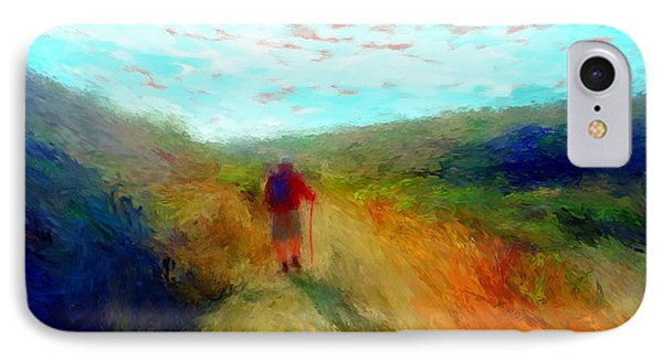 Hiker On Path IPhone Case by Gerhardt Isringhaus