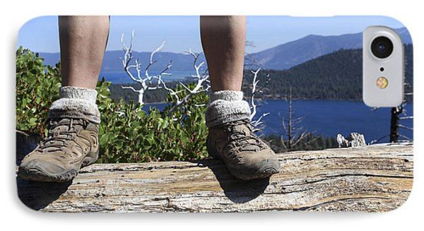 Hikers Legs And Boots  IPhone Case by Gal Eitan