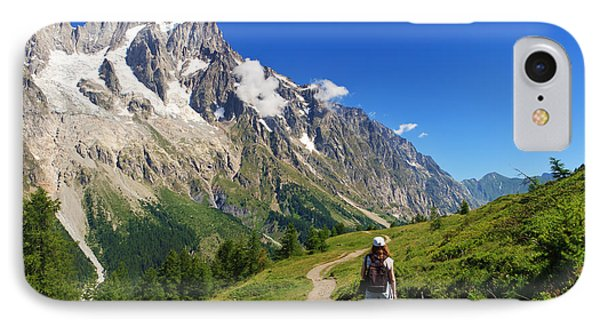 IPhone Case featuring the photograph hiking in Ferret Valley by Antonio Scarpi