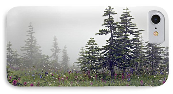 Hiking In The Clouds IPhone Case by Kjirsten Collier