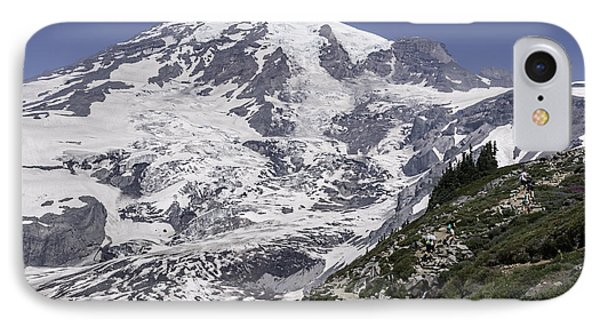 Hiking Mt Rainier IPhone Case by Sharon Seaward