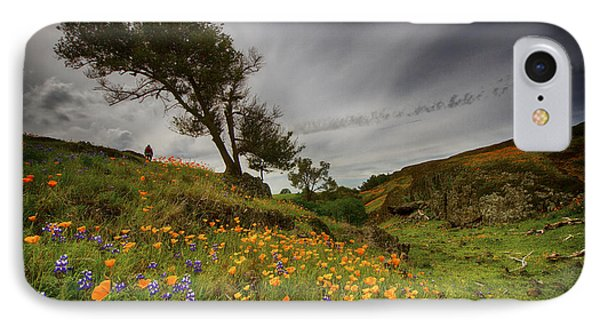 Hiking On Table Mountain IPhone Case