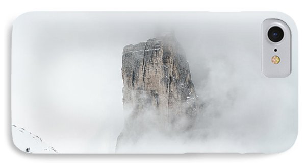Hiking The Tre Cime In Winter IPhone Case by IPics Photography