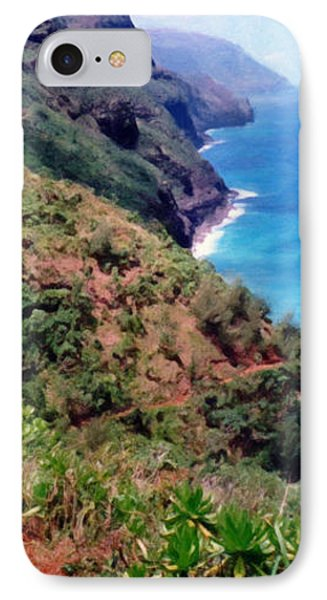 Trail To Kalalau IPhone Case by Susan Schroeder