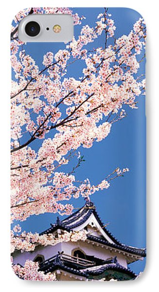 Hikone Castle W\cherry Blossoms Shiga IPhone Case by Panoramic Images