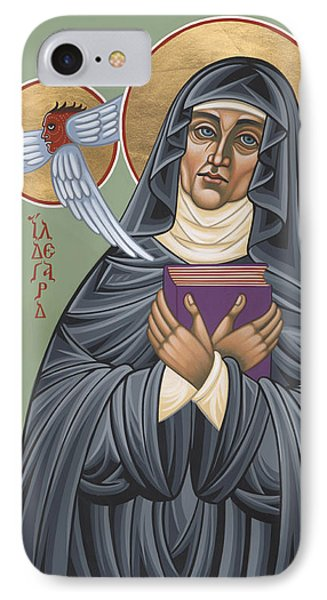 IPhone Case featuring the painting St. Hildegard Of Bingen 171 by William Hart McNichols