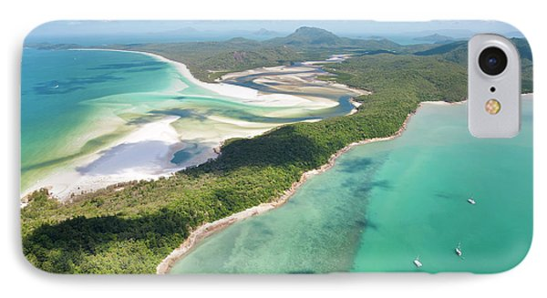 Hill Inlet Whitsunday Islands IPhone Case by Peter Adams