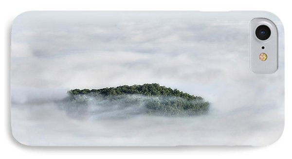 Hill Top Island In The Clouds Phone Case by Dan Friend