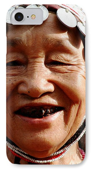 IPhone Case featuring the photograph Hill Tribe Smile by Nola Lee Kelsey