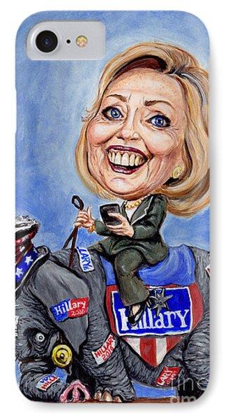 Hillary Clinton 2016 Phone Case by Mark Tavares