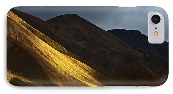 Hills At Sunset Landmannalaugar IPhone Case by Heike Odermatt