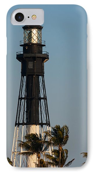 Hillsboro Inlet Lighthouse In The Evening IPhone Case by Ed Gleichman