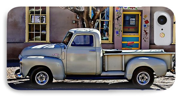 IPhone Case featuring the painting Hillsboro New Mexico 1949 Gmc 100 by Barbara Chichester