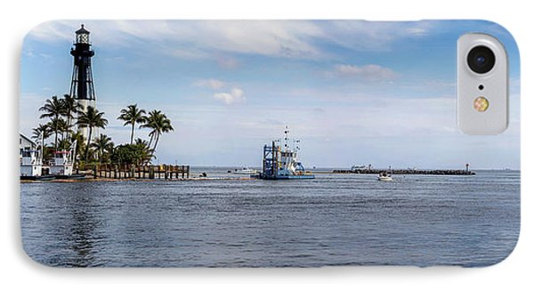 Hillsboro Inlet Lighthouse Panorama IPhone Case by Lynn Palmer