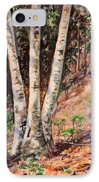Hillside Birch Phone Case by Kristine Plum