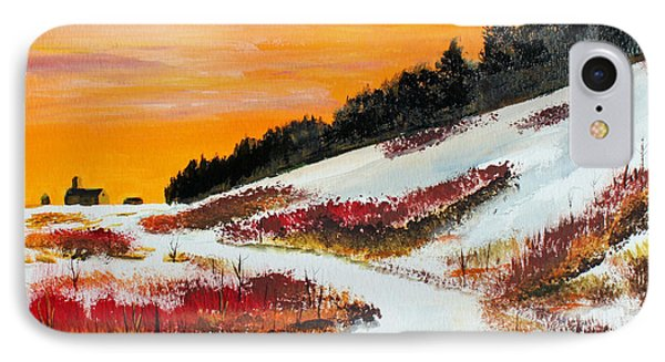 IPhone Case featuring the painting Hillside Shadows by Jack G  Brauer