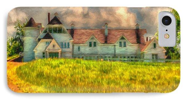Hilltop Farm IPhone Case by Lois Bryan