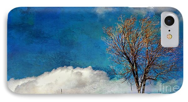 Hilltop Tree IPhone Case by Barbara Chichester