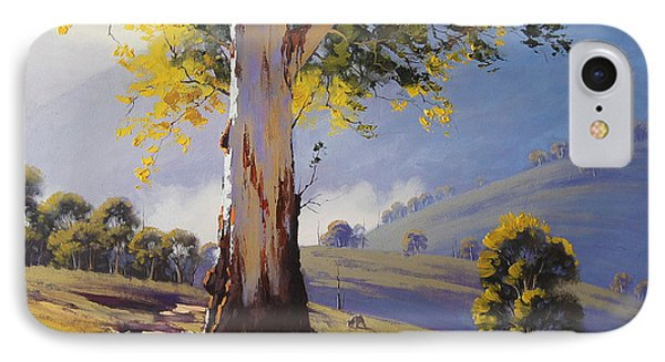 Hilly Australian Landscape IPhone Case by Graham Gercken