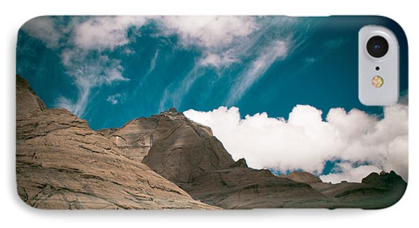 Himalyas Mountains In Tibet With Clouds Phone Case by Raimond Klavins