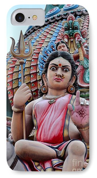 Hindu Goddess At Colorful Temple Phone Case by Imran Ahmed